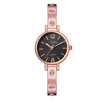 Hot Sales O.T.SEA Brand Rose Gold Bracelet Watch Women Ladies Crystal Dress Quartz Wristwatches Relogio Feminino OTS062