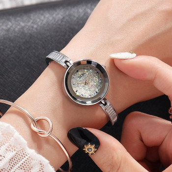 2018 Hot GEDI Fashion Rose Gold Women Watches Top Luxury Brand Ladies Quartz Watch 2 Pieces Watches Small Dial Clocks Hours