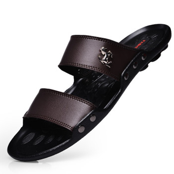 New Men Slippers Massage TPR Sole Sandals for Mans Comfortable Slippers Massage 2018 Mens Slippers Indoor Shoes