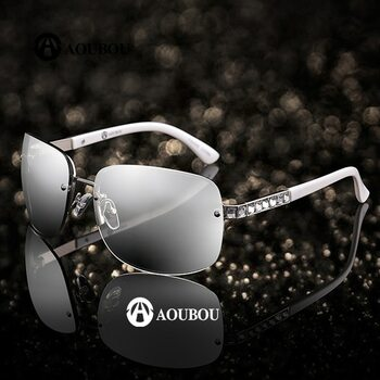 3227805c2c5 AOUBOU Brand Designer Luxury Diamond Square Frame Sunglasses Women  Transparent Mercury Len Vintage White Sunglasses UV400