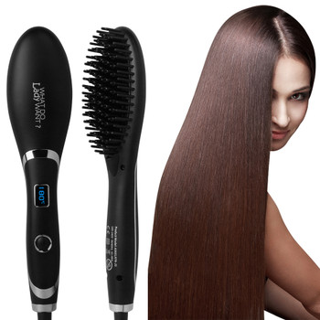 Eternity Hair Brush Fast Hair Straightener Comb Hair Electric Brush Comb Irons Auto Straight Hair Comb Brush ETR-28b