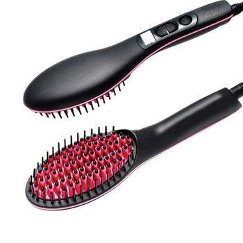 Portable Handheld Electric Hair Straight Brush Pro LCD Display Fast Hair Straightener Comb Straightening Irons Styling Tool
