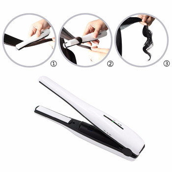 2 in 1 Wireless hair straightener Hair curler rechargable straightening irons Hair Crimper Portable heating curling irons