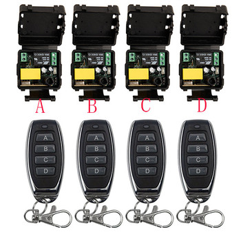 AC220V 1CH 10A RF Wireless Remote Control Relay Switch Security System Garage Doors Gate Electric Doors shutters