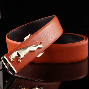 2017 Famous Brand Designer High Quality Genuine Leather Pin Buckles Jaguar Mens Belts Wide Luxury Male Cowskin Belt Women LXG156