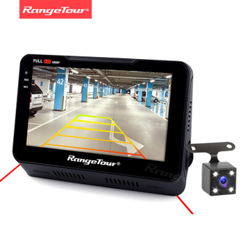 "Range Tour Support Rear Dash Cam B90s Car DVR Video Camera Recorder Full HD 1080P 4.3""LCD Dashcam 170 Degree Dashboard Black Box"