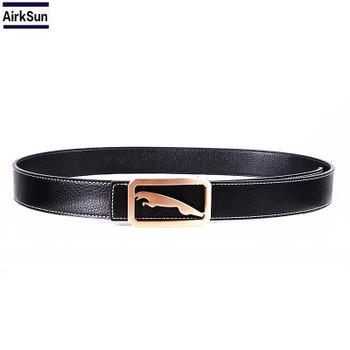 2017 New Brand Jaguar Designer  Men's Belt Genuine Leather Belt Silver Golden Belts for Men