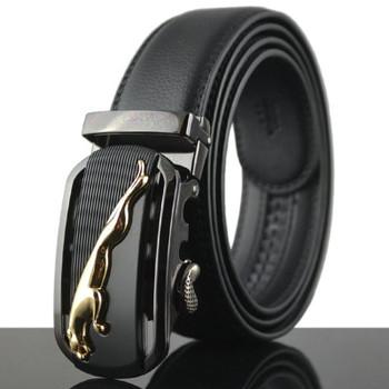 2017 new arrival gold jaguar automatic buckle men belts luxury quality designer strap cowboy size 125cm waist belt jeans c007