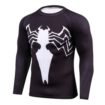 Newest 2017 Fashion Men T-Shirt Marvel Superhero Spider man T Shirt Jersey Men Fitness tee Compression Shirt Tights