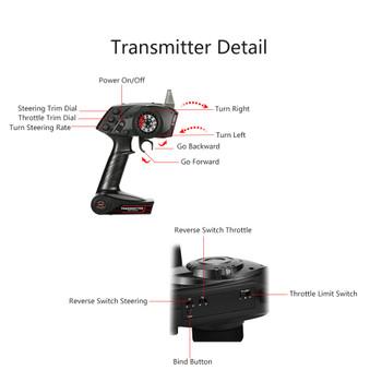 Original High Quality GoolRC TG3 2.4GHz 3CH Digital Radio Remote Control Transmitter with Receiver for RC Car or Boat