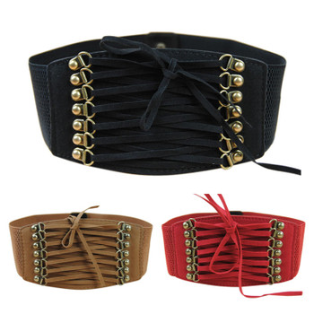 Hot Brand New Designer Women Ladies Strap Buckle Cinch Belts Corset Stretch Skinny Waistband High Waist Slimming Waist Belts Z1