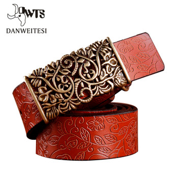 [DWTS] 2017 New ceinture femme belt hand real leather woven strap needle buckle casual style luxury female casual women belts