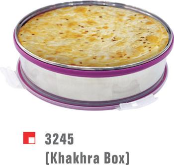 Steel Khakhra box with vacuum lid