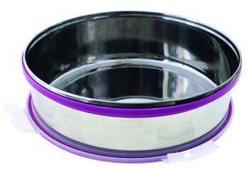 Steel Khakhra box with vacuum lid (Vacuum Steel Khakhra box)