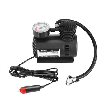 DC 12V 300PSI Car Tire Inflator Auto Air Compressor Tire Pump with Pressure Gauge for Car Bicycle Ball Rubber Dinghy