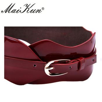 Genuine Leather Elastic Belts for Woman Luxury Metal Pin Buckle Waist Belts Dress Accessories Ceinture Femme