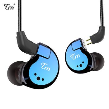 TRN V80 2DD+2BA Hybrid In Ear Earphone HIFI DJ Monitor Running Sport Earphone Earplug Headset With 2PIN Detachable TRN V20/V60