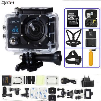 Action Camera 4K Ultra HD WIFI gopro hero 4 Stlye 1080P/30fps 2.0 LCD 170 Lens Diving Waterproof 30M DV Helmet Cam Sports Camera
