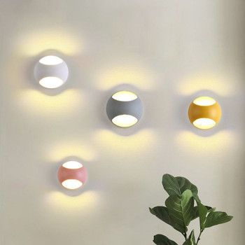 LED Wall Lamps 5W 100V-220V Living Room Light Fixtures Indoor Wall Lights Chromatic Background Kid's Room Stair Mirror Lighting