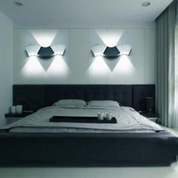 Led Wall Lamp Light 3W 9W Aluminum Sconces Wave Shape Ceiling For Hall Bedroom Corridor Restroom Bathroom 110V 220V JQ
