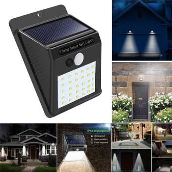30 LED Outdoor Solar Wall Lamps Garden Light Decoration PIR Motion Sensor Night Security Wall Light Waterproof Wall Lamp (solar wall lamp 30 led)