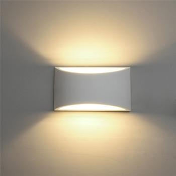 Kinkiet LED Wall Lamp Handmade Plaster Moulding Gypsum Wall Sconce AC110V/220V UP DOWN Lighting Modern Home Decor LED Wall Light