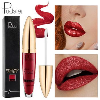 18Colors Diamond Glitter Lipquid Lipstick Non-Stick Cup Nutritious Matte Nutritious Pigment Waterproof Liquid Lipstick