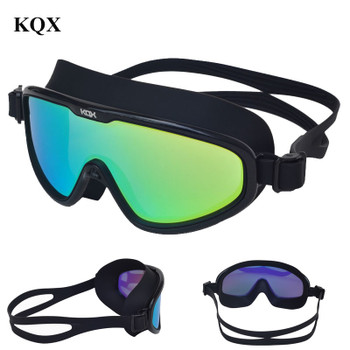 Professional big frame Anti-Fog UV Swimming glasses silicone Waterproof Swim goggles in Poor for men women swim masks Eyewear