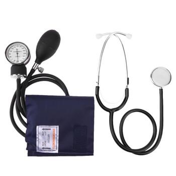 Manual Arm Sphygmomanometer Blood Pressure Gauge with Stethoscope Monitor Device Health Monitors Health CareTool