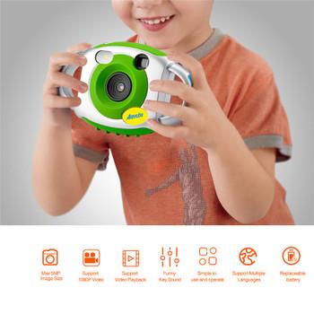 AMKOV Mini Kid Cameras 5MP HD Projection Digital Camera Fotografica Digital Portable Cute Neck Child Photography Video Camera