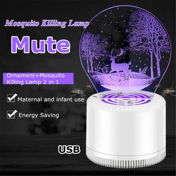 Electric Mosquito Killer Lamp Mosquito Killer USB Photocatalysis Mute Home LED Bug Insect Trap Radiationless Killer Light
