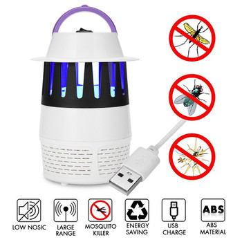 3W LED UV Anti Mosquito Killer Lamp USB Mosquito Dispeller Non-radiation Indoor Camping Pest Mosquito Trap Light
