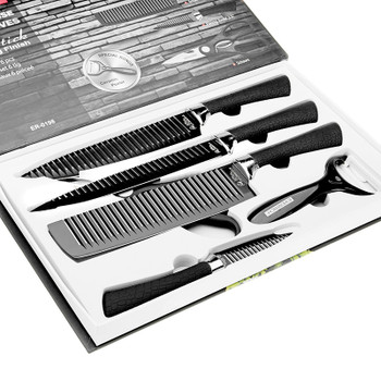 """6 Pieces 3Cr13 Stainless Steel Kitchen Knife set Chef Carving Cleaver Utility Knives 3.5"""" 5"""" 7"""" 8"""" 8"""" 8"""" Non-stick Cooking Tools"""