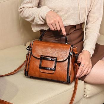 d3fd5f7bc4 ... 2019 Spring Real Genuine Leather Handbag Handbags Woman Small Vintage Crossbody  Bags For Women Shoulder Messenger