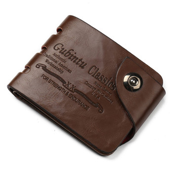 Fashion Wallets Card Holders Cowboy Style Magnetic Buckle Classic for Dollars Short Purse Small Size US Purses Mini Men's Wallet