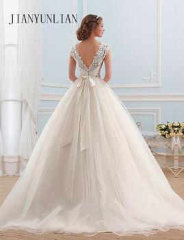 Vestido de noiva Lace And Tulle Bride Wedding Dress 2019 Princess Tube Top Beading Wedding Gown Custom-made