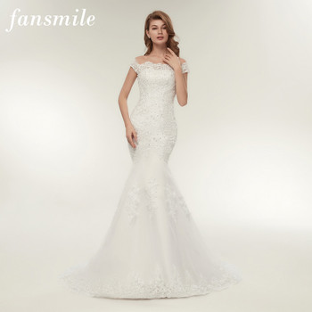 Fansmile Real Photo Vestidos de Novia Vintage Lace Mermaid Wedding Dress 2019 Plus Size Bridal Gowns Robe de Mariage FSM-165M
