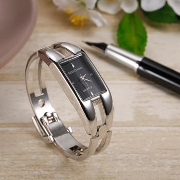 GEEKTHINK Luxury Brand Quartz Watch Women rectangle Stainless steel female clock Bracelet Lady Casual Wristwatch gift 3D Face