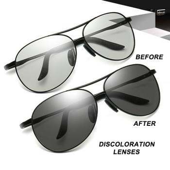 HBK 2019 Driving Photochromic Polarized Sunglasses Chameleon Discoloration Sun glasses oculos de sol masculino PM0152P