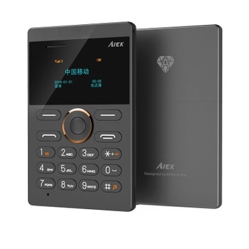 2017 New Card Phone AIEK E1 Cell Phone  Mini Mobile Phone bar phones colorful telephone