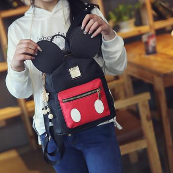 Women Cute Cute Ears Backpack Minnie Female School Bag Small Nylon Kids Bag Pack Kawaii Mini Back Bag Rucksacks For Girls 2019