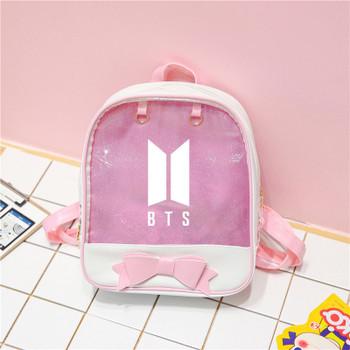Bts Exo Blackpink Twice Got7 Monsta X Transparent Backpacks For Girls Female Travel Backpack Schoolbag Pack