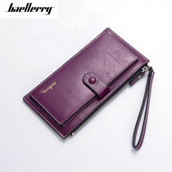 Baellerry Brand Women Long PU Leather Wallet Dollar Price Carteira Clutch Coin Purse Female Wristlet Hand Bag Card Holder