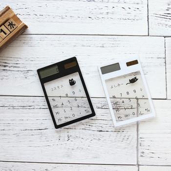Handheld Transparent Scientific Calculator Cute Pocket Calculator Solar Calculators Scientific for School Meeting