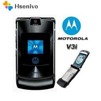 100% ORIGINAL Motorola RAZR V3i UNLOCKED Mobile Phone GSM Flip Bluetooth Phone One Year Warranty