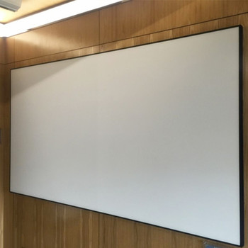 120'' Thin Bezel 4:3 4K Ultra HD Ready HDTV Home Cinema Fixed Frame Projector Movie Screen with slim aluminium frame