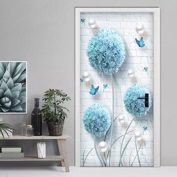 Custom Photo Wallpaper Modern 3D Stereo Blue Dandelion Jewelry Murals Living Room Bedroom Door Sticker Creative DIY Wall Papers