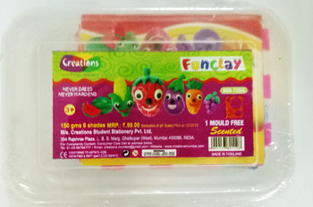 Funclay clay toy art clay set for kids by Creations 150 gms