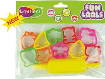 Funtools tools toy art tools set for kids by Creations 10 Pcs Cutter Molds