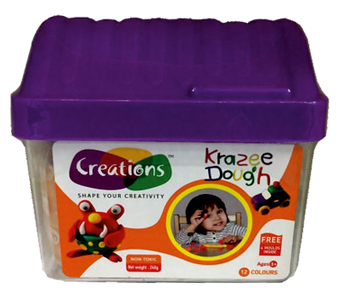 Krazee Dough toy art Dough set for kids by Creations 240 gms
